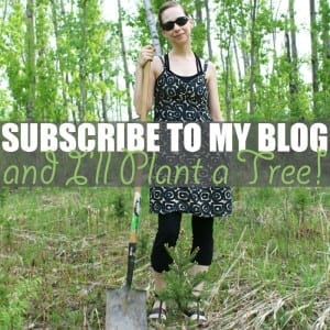 Plant a Tree by Of Houses and Trees | Subscribe to my blog and I'll plant a tree! Because as the proverb goes:
