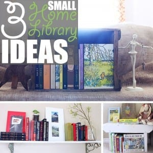 Small Home Library by Of Houses and Trees   Do you dream of a massive, multi-storied library? Me too! Do you have nowhere near the space? Me too. So try one of these small home library ideas instead.