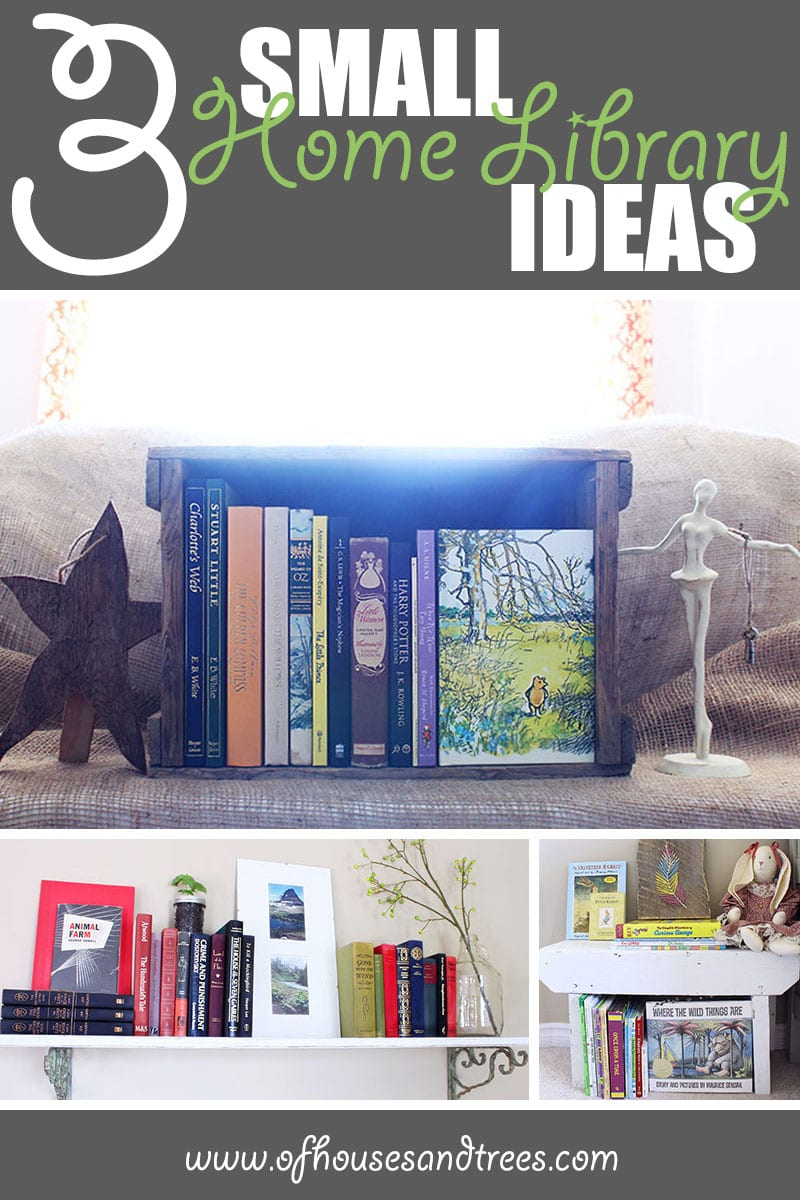 Small Home Library   Do you dream of a massive, multi-storied library? Me too! Do you have nowhere near the space? Me too. So try one of these small home library ideas instead.