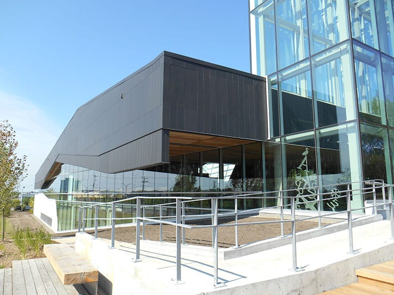 Canadian sustainable building Bibliotheque du Boise in Montreal, Quebec.