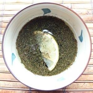 Lemon Dill Balsamic Vinaigrette   Healthy homemade salad dressing with balsamic vinegar, lemon juice and olive oil.