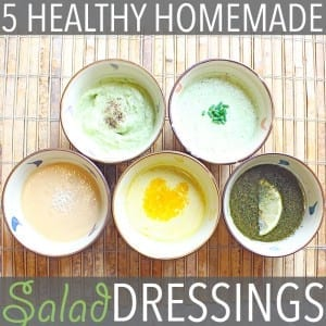 Healthy Homemade Salad Dressing by Of Houses and Trees   Healthy homemade salad dressing takes a bit of extra work, but the benefits are so worth it. Here are five of my favourites!