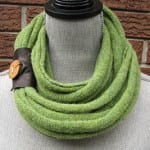 Eco-friendly Christmas gifts are perfect for treehuggers and non-treehuggers alike! Check out this recycled wool scarf for the fashion lover on your list.