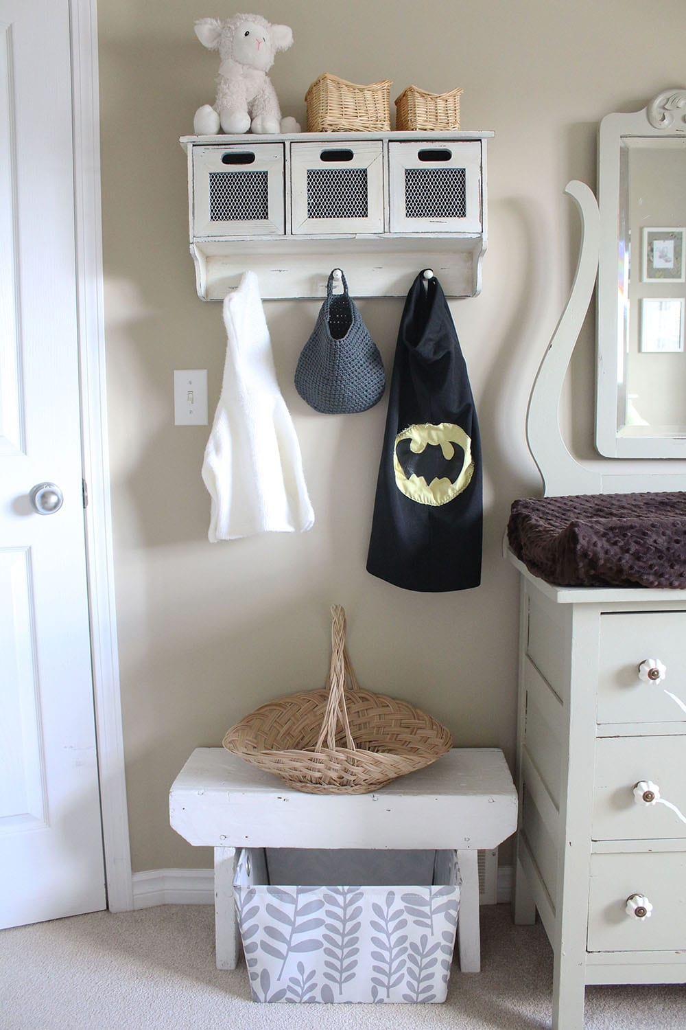 One of the easiest ways to create an eco-friendly kid's room is to use what you already have. Consider furniture and decor from all around your house. Because repurposing is super sustainable!