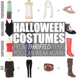 This Halloween, be smart - not scary. Create customized second hand Halloween costumes with items you can add to your regular wardrobe and wear again!