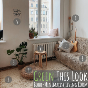 """Welcome to """"Green This Look,"""" where I show you how to create an eco-friendly living room and offer some bohemian decor ideas - that are great for any space!"""