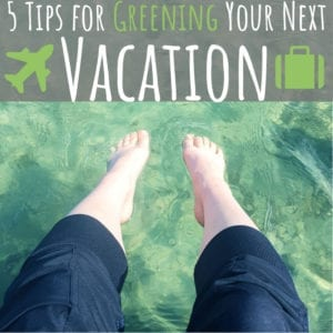 Follow these five green living tips to ensure your holiday or business trip is just as eco-friendly as the rest of your life.
