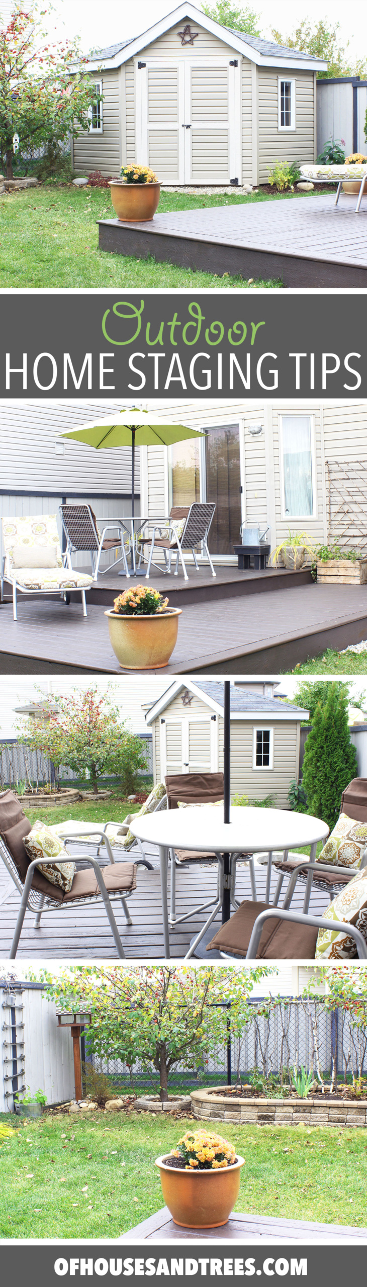 When it comes to selling, your outdoor spaces need to be just as beautiful as your indoor spaces. Here are a few home staging tips focusing on the yard.