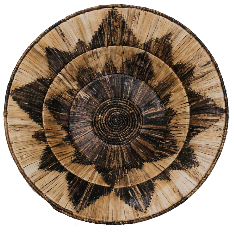 What is sustainable art and where exactly do you find it? Check out Made Trade, where you'll find pieces like this Banana Bark Wall Bowl by a women's cooperative in Uganda.