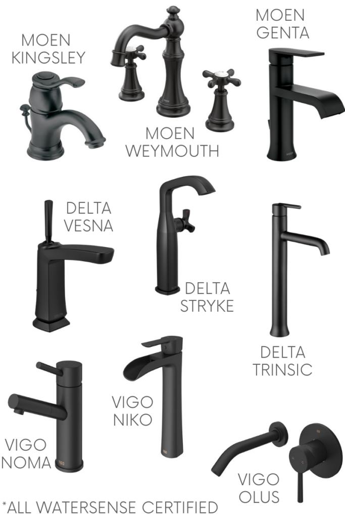 Black Bathroom Sink Faucets 9 Eco, Black Bathroom Faucets