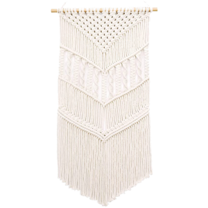 Here's how to create a modern boho living room, which balances the funky boho vibe with clean lines and neutral colours - and features beautiful decor like this macrame wall hanging.