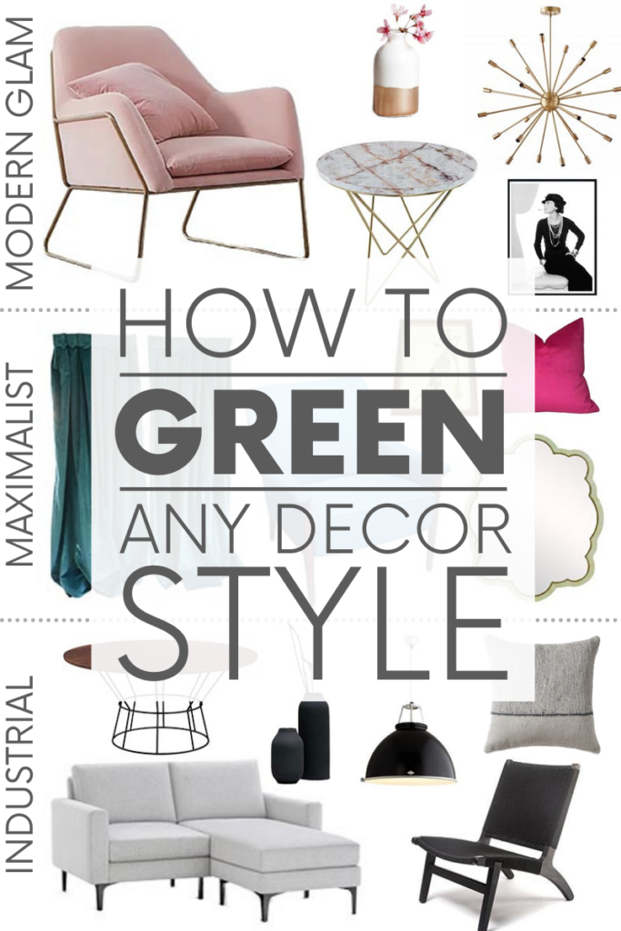 Think eco-friendly decor only works in bohemian or rustic-styled rooms? Think again! Here are three tips on greening ANY decor style.